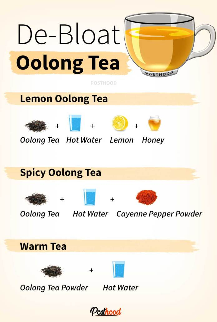 De-bloat oolong tea. Know how to prepare, benefits, and when to drink for weight loss and flat belly. 5 best herbal tea that helps in weight loss.