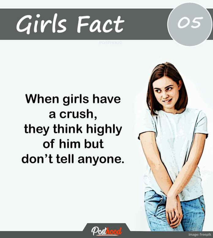 Have you any idea what a girl thinks about her crush. Know interesting psychological facts about girls' love and feelings.