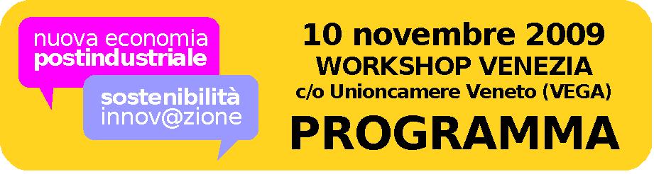 Programma workshop 10 novembre 2009