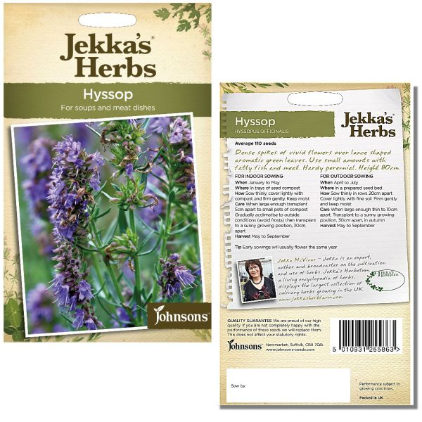 Jekka's Herbs - Hyssop Seeds by Johnsons