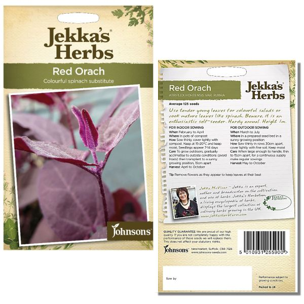 Jekka's Herbs - Red Orach Seeds by Johnsons