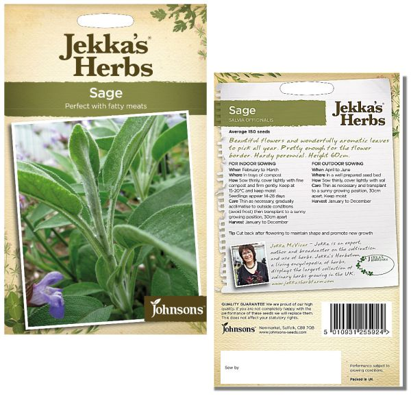 Jekka's Herbs - Sage Seeds by Johnsons