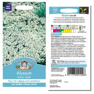 Mr. Fothergill's Seeds - Alyssum Snow Cloth
