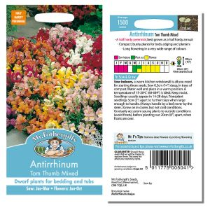 Mr. Fothergill's Seeds - Antirrhinum Tom Thumb Mixed
