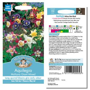 Mr. Fothergill's Seeds - Aquilegia McKana Giant Mixed