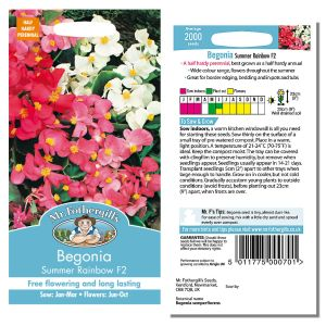 Mr. Fothergill's Seeds - Begonia Summer Rainbow F2