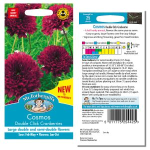 Mr. Fothergill's Seeds - Cosmos Double Click Cranberries