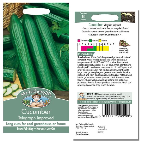 Mr. Fothergill's Seeds - Cucumber Telegraph Improved