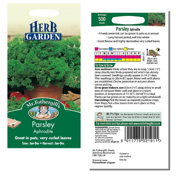 Mr. Fothergill's Seeds - Herb Garden - Parsley Aphrodite