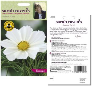 Sarah Raven's Cosmos 'Purity' Seeds by Johnsons