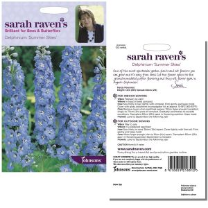 Sarah Raven's Delphinium 'Summer Skies' Seeds by Johnsons
