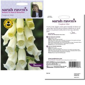 Sarah Raven's Foxglove 'Alba' Seeds by Johnsons