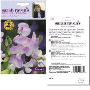 Sarah Raven's Lathyrus Pink Pearl Seeds by Johnsons