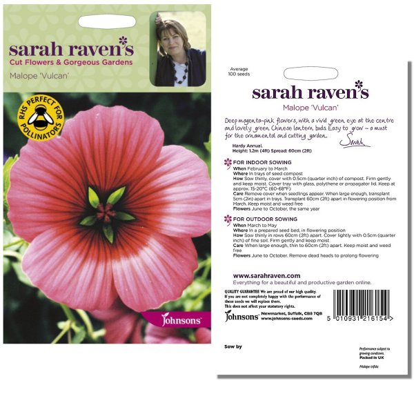 Sarah Raven's Malope 'Vulcan' Seeds by Johnsons