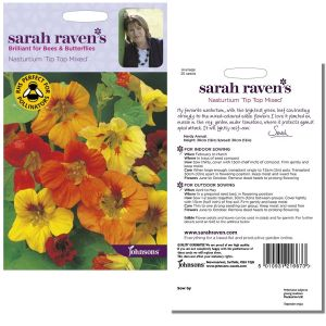 Sarah Raven's Nasturtium 'Tip Top Mixed' Seeds by Johnsons