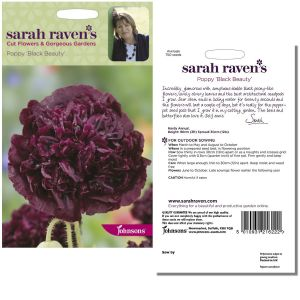 Sarah Raven's Poppy 'Black Beauty' Seeds by Johnsons