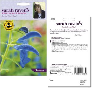 Sarah Raven's Salvia 'Deep Blue' Seeds by Johnsons