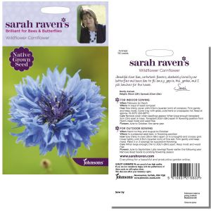 Sarah Raven's Wildflower Cornflower Seeds by Johnsons