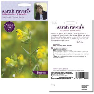 Sarah Raven's Wildflower 'Yellow Rattle' by Johnsons
