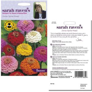 Sarah Raven's Zinnia 'Sprite Mixed' Seeds by Johnsons