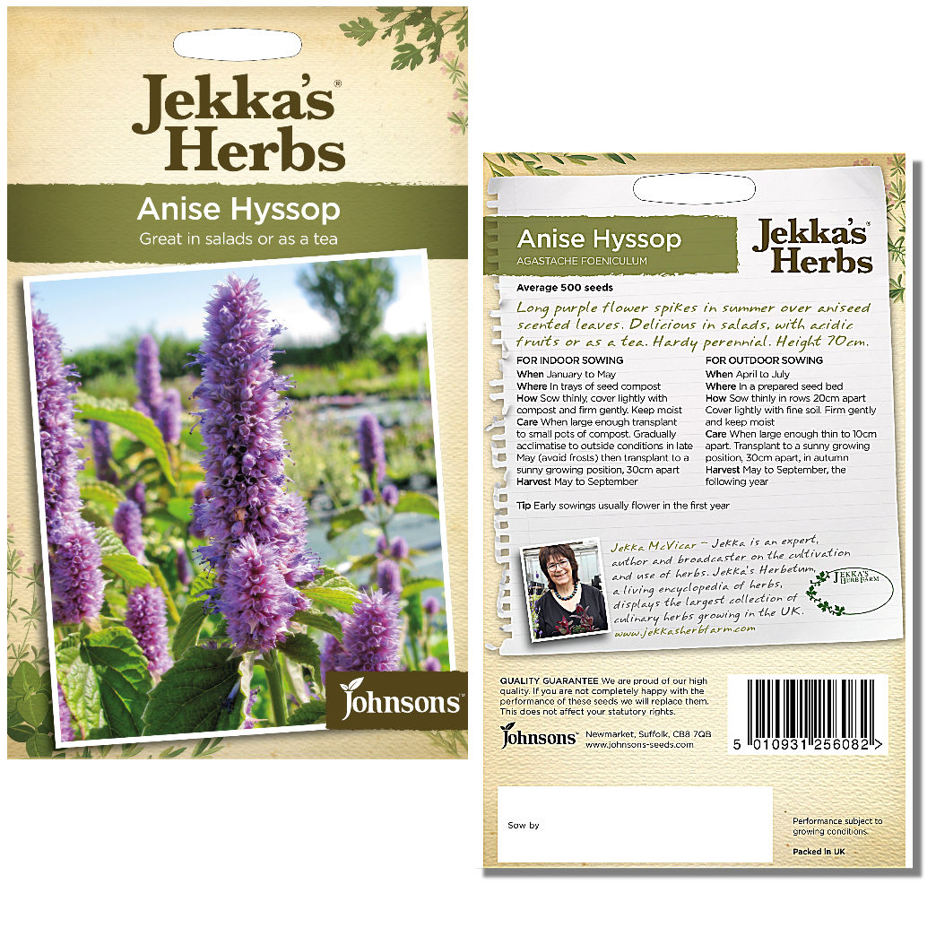 Jekka's Herbs – Anise Hyssop Seeds by Johnsons