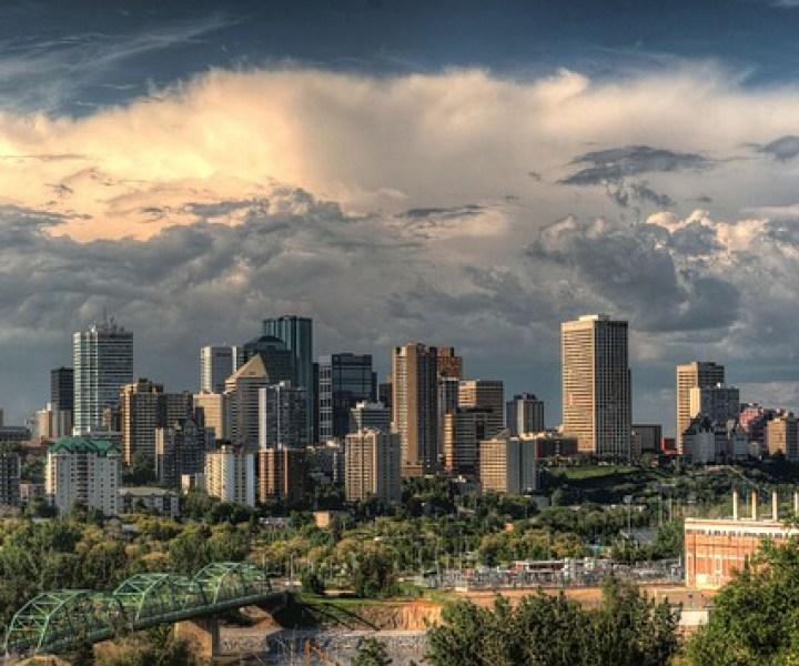 Downtown Alberta Edmonton Canada Cityscape Skyline