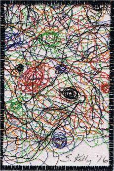 Sara Kelly, R24, In the Style of Jackson Pollock