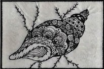 Christine Bostock, R24, Zentangle 3