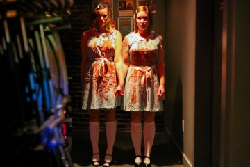 The Grady twins during a Halloween party at SPACE Gallery. I spotted these costumed ladies in the crowd and asked if they would mind posing in the venue's lone corridor. Thankfully, they were into it.