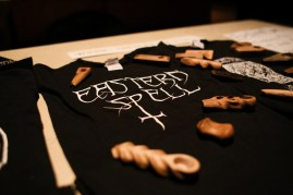 Included on Eastern Spell's merch table were wooden pipes carved by bassist Denis Lausier.