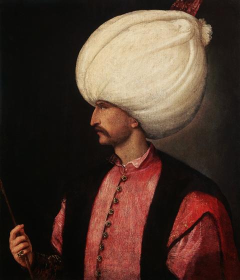 Venetian Portrait of Ottoman Sultan Suleyman I