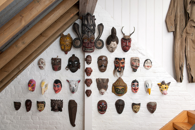 30. PETER BLAKE. Masks from the collection of Sir Peter Blake, photo Hugo Glendinning