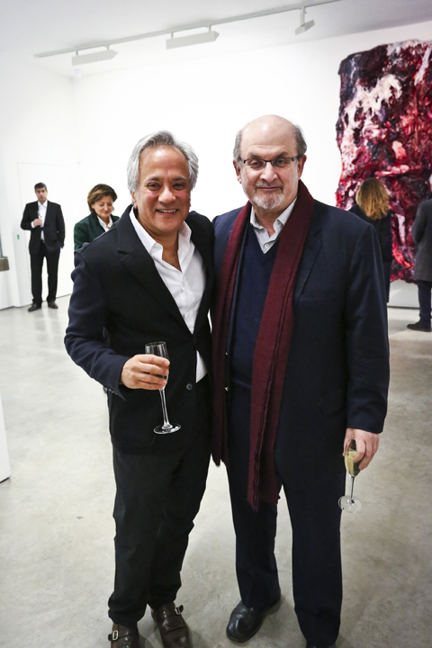 Sir Anish Kapoor and Sir Salman Rushdie