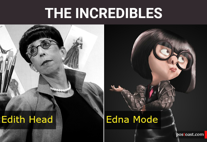 Edna Mode from The Incredibles Inspiration Edith Head