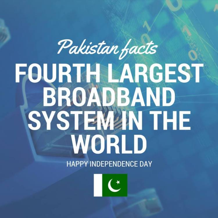 Pakistan Facts: Pakistan has fourth largest broadband internet infrastructure in the world.