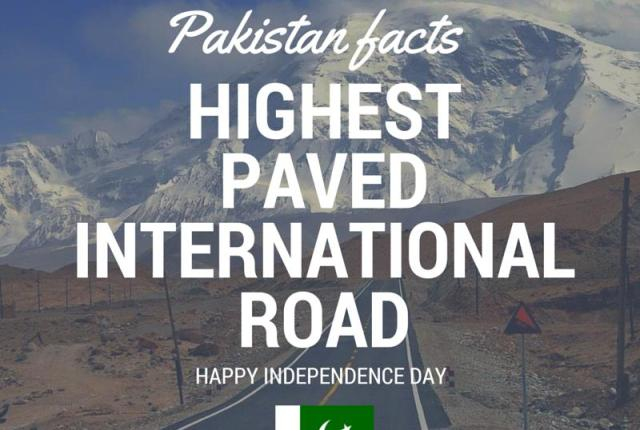 Pakistan Facts: Karakoram Highway - KKH is world's highest paved road.