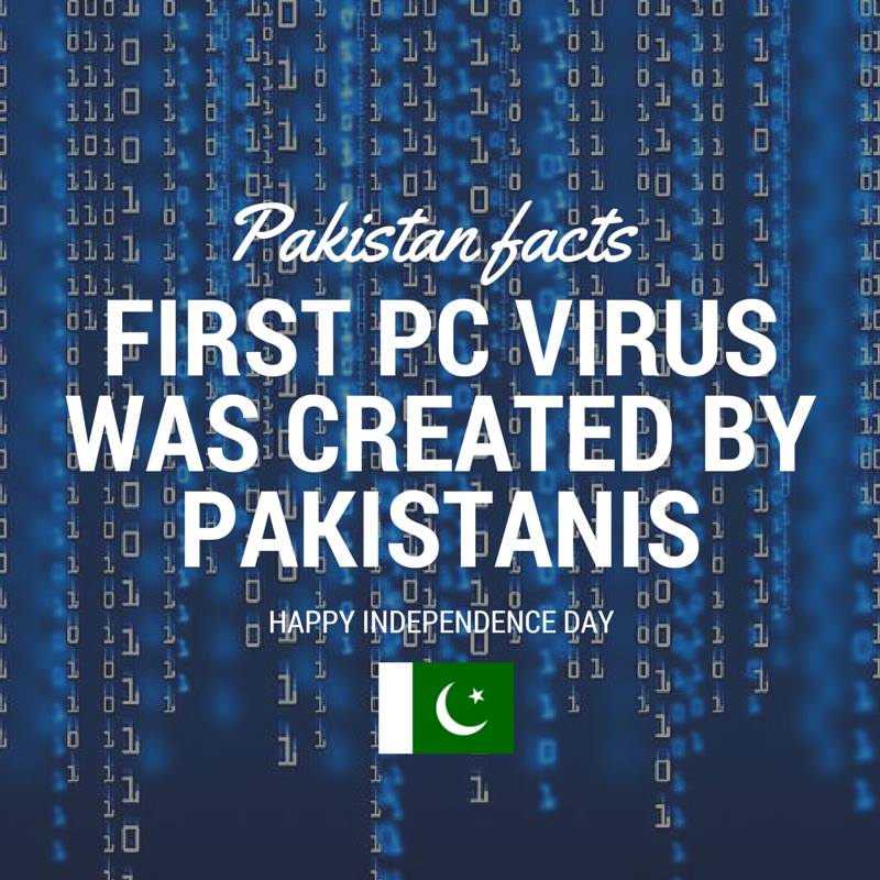 Pakistan Facts: First PC Virus was developed in Lahore, Pakistan.