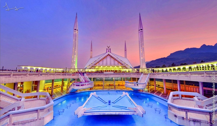 Shah Faisal Mosque Islamabad by Haider Ali