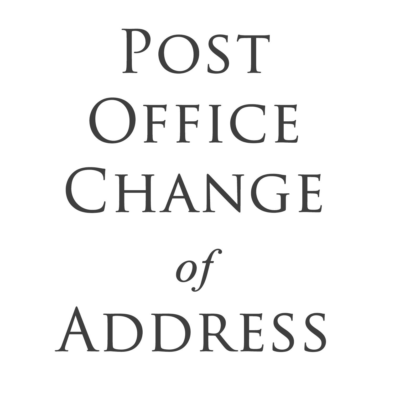 Post Office Change Address United States Postal Service