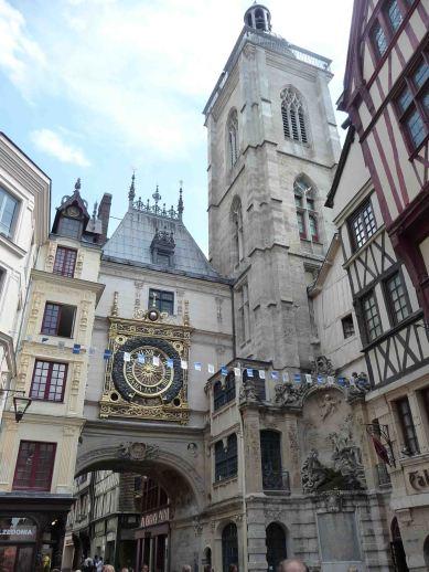 La torre dell'orologio di Rouen