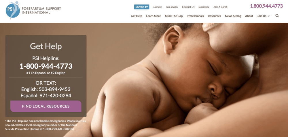 find a therapist trained for postpartum or pregnant women through postpartum support international