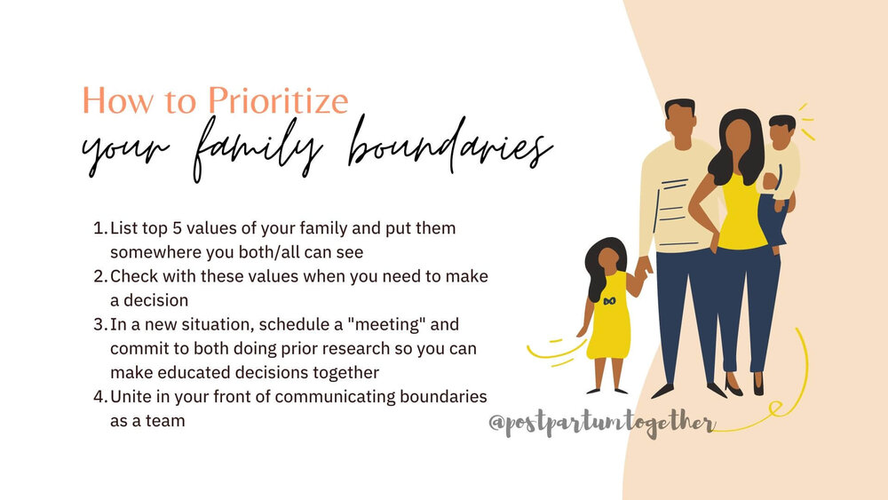 making boundaries for your family with values