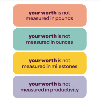 your worth stickers for new mom gift