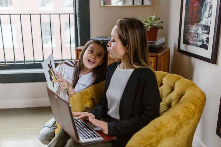 girls shows work from home mom her craft