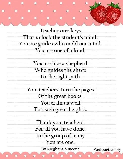 best teacher poems