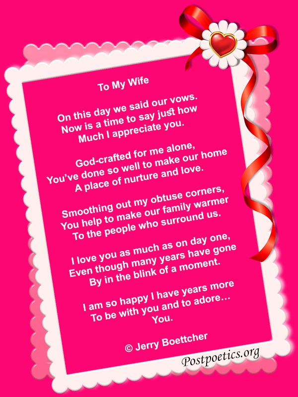 short love poems for wife