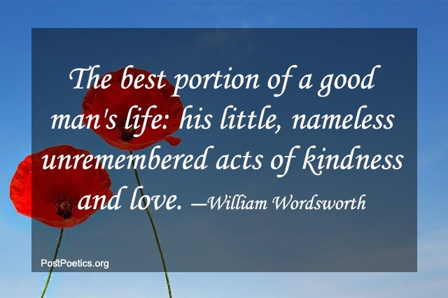 william wordsworth quotes on love