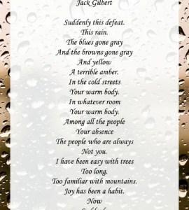autumn rain poems