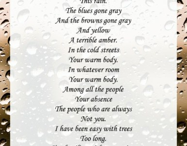 autumn rain poems