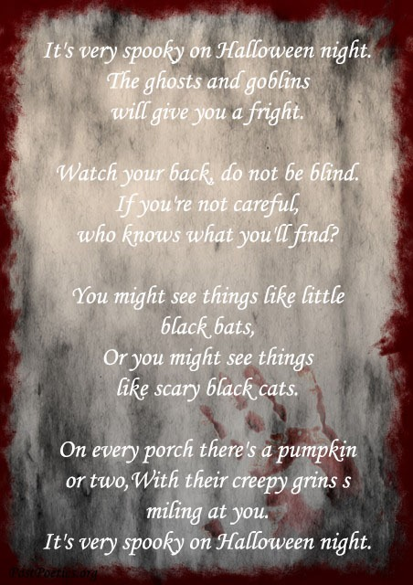 halloween poems that rhyme